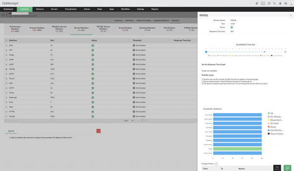 Windows network monitoring made easy with OpManager 2