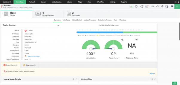 Windows network monitoring made easy with OpManager 7